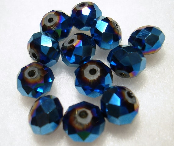 B303 Qty 65 Dark Orchid Frosted Glass Round Beads