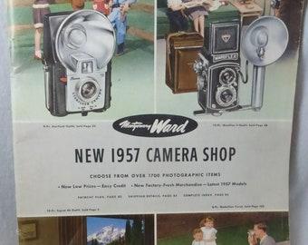 Vintage Mid Century Montgomery Ward 1957 Camera Shop Catalog
