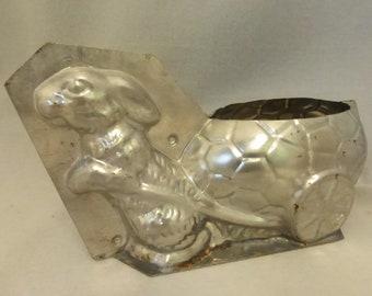 Vintage Mid Century Rabbit W/Cart Easter Chocolate Mold #207 TC Weygandt