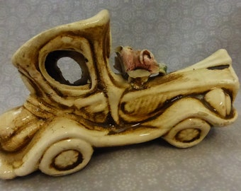 Vintage Capodimonte Jalopy Porcelain Collectible CJ331
