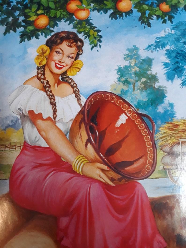 Rare Angel Martin En el Rancho Mexico art poster 16x20 Limited
