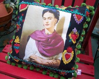 Frida Kahlo Pillow Really Frida Sacred Hearts