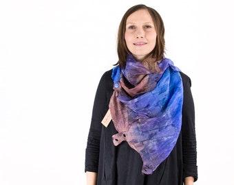silk scarf, felt scarf, hand painted, dyed, wool scarf, merino, multicoloured, kate ramsey, fabulousfelt, boho clothing, unique silk scarf