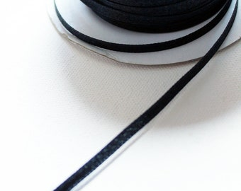 3mm Thin black satin ribbon - 1 metre - Kezbirdie
