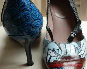 Custom Shoe Order - any size, any shoe, any design - Kezbirdie