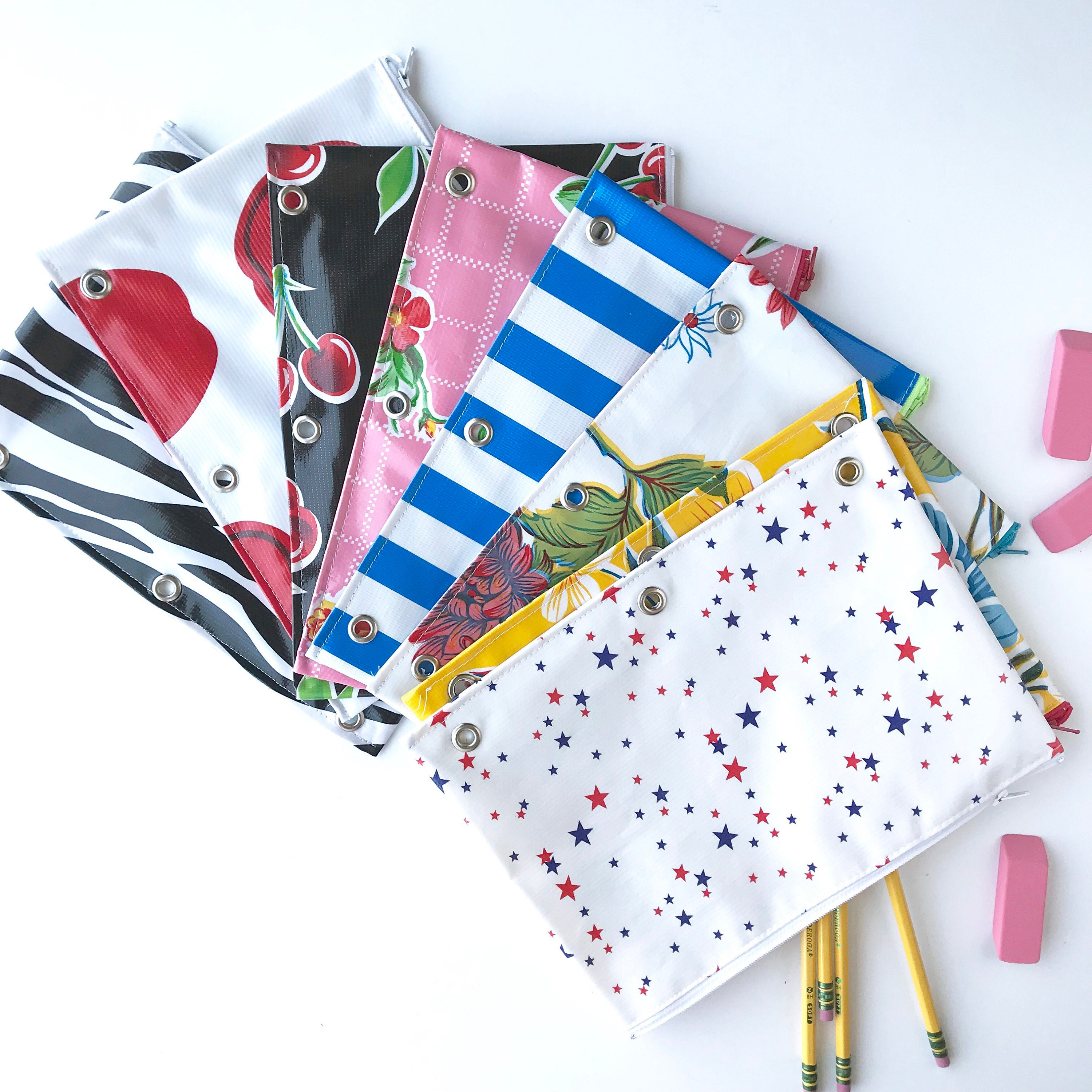 Back To School 3 Ring Binder Pencil Pouch