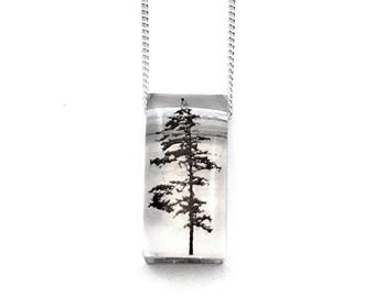 Tiny Forest Pendant (Chain Sold Separately)