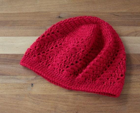 Kufi Hat Crochet Skull Cap Boho Lace Red Etsy