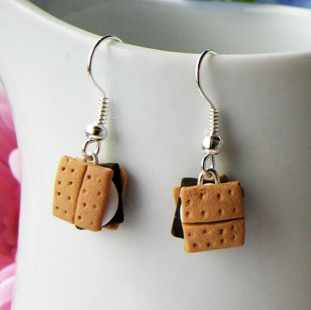 Dangle Earrings Handmade Smores