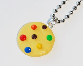 Rainbow Chocolate Chip Cookie Necklace  (D1D2)