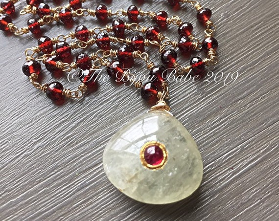 Boho Luxe Garnet Necklace
