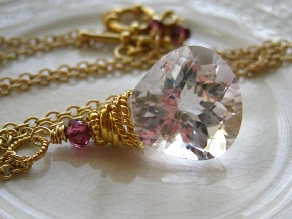 Pink Amethyst Minimalist Necklace-Sugar Plum II