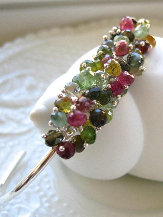 Tourmaline Cuff Bracelet-Enchanted Garden