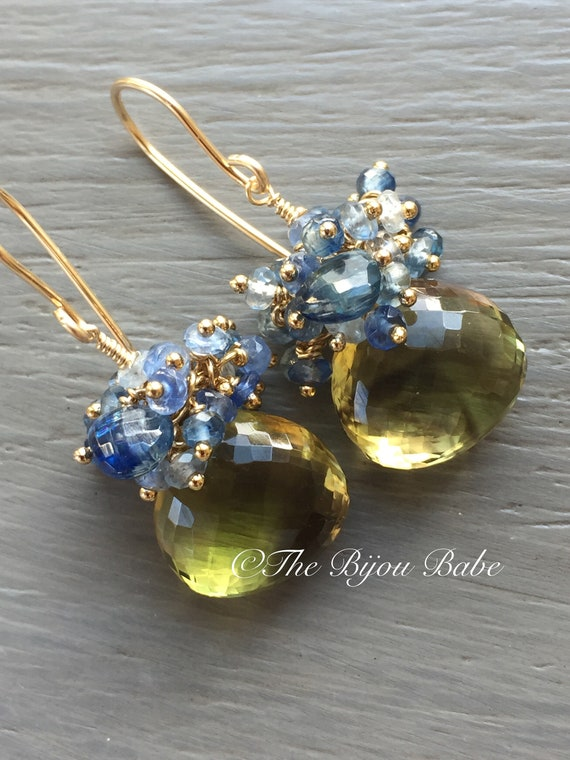 Gemstone Cluster Earrings Made to Order