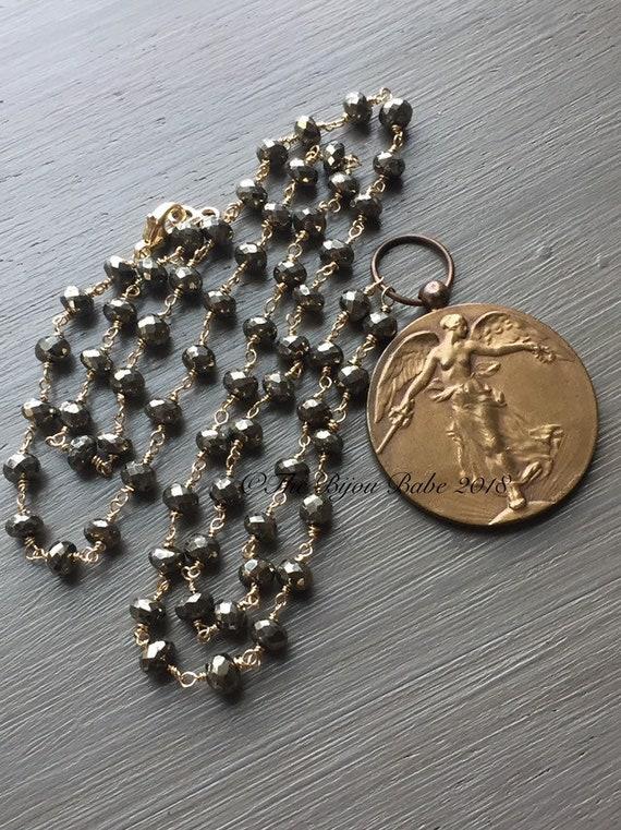 Belgian Victory Angel WWI Medal