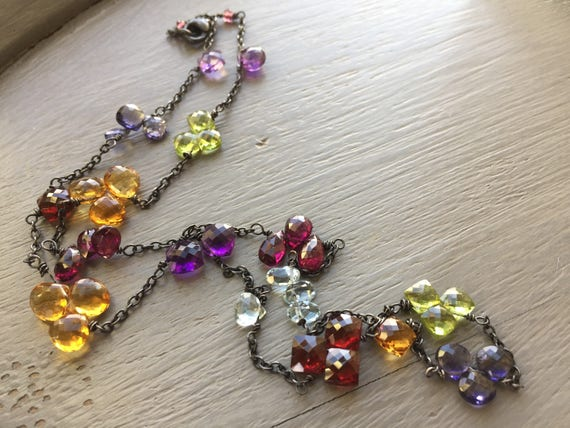 Gemstone Briolette Necklace