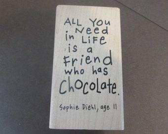 Friend to Friend rubber stamp-New-destash