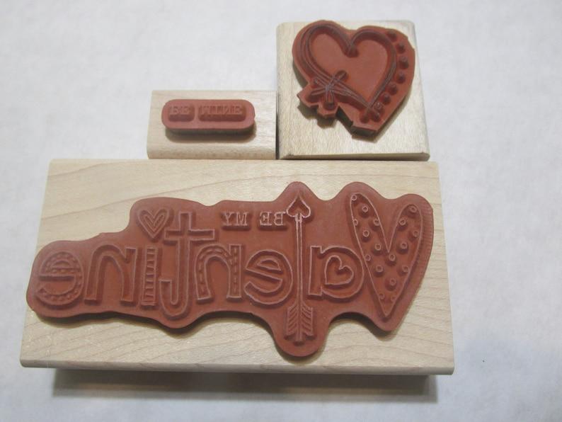 Valentine rubber stamps