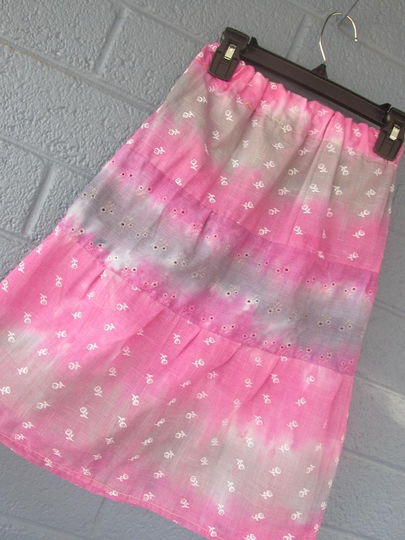 Tie dye girls skirt free shipping