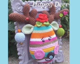"""English PDF Crochet Pattern """"Happy Deer"""""""