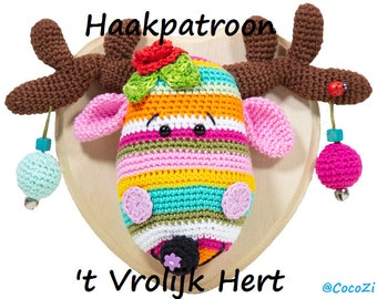 """NL PDF Haakpatroon """"'t Vrolijk Hert"""" NL"""