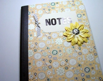 Altered Composition Book, Blank Book, Journal, Notebook, Bound Book, Composition Notebook, Book