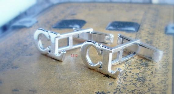 Handmade Sterling Silver Men/'s Cufflinks gemelos para hombre Christmas Gifts for Men Anniversary gift Flor de lis cuffliks
