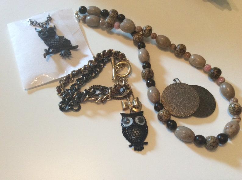 Black owl fall jewelry