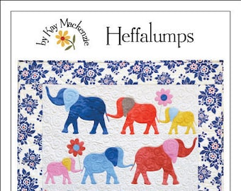 Elephant Quilt Pattern, Heffalumps