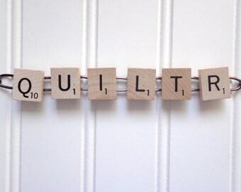 Scrabble Tile Bracelet for Quilters