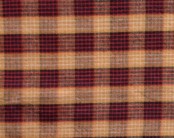 Red and Gold Homespun Woven Fabric, 1/2 yard