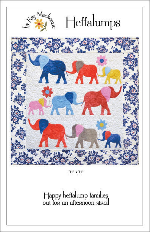 Elephant Quilt Pattern Heffalumps image 0