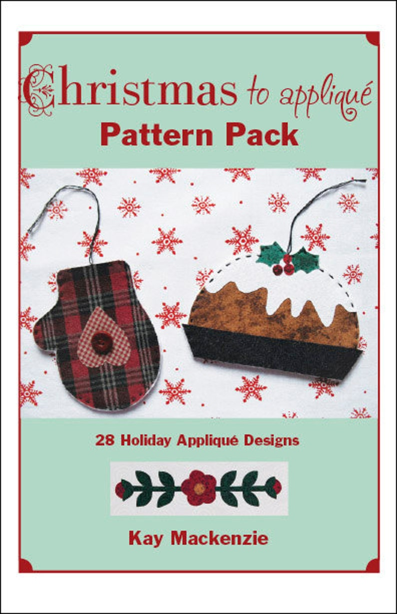 Christmas to Appliqué Pattern Pack image 0