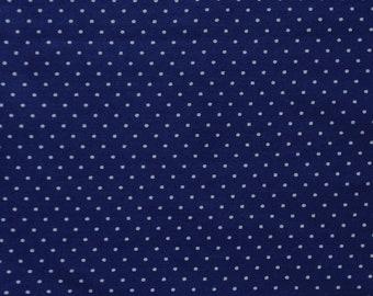 Dark Blue Polka Dot Fabric Fat Quarter