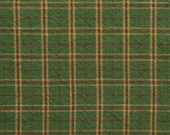 Forest Green Homespun Woven Fabric Oversized Fat Quarter