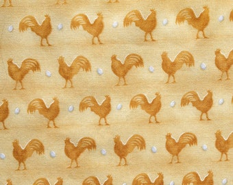 Yellow Chicken and Egg  Fabric Fat Quarter