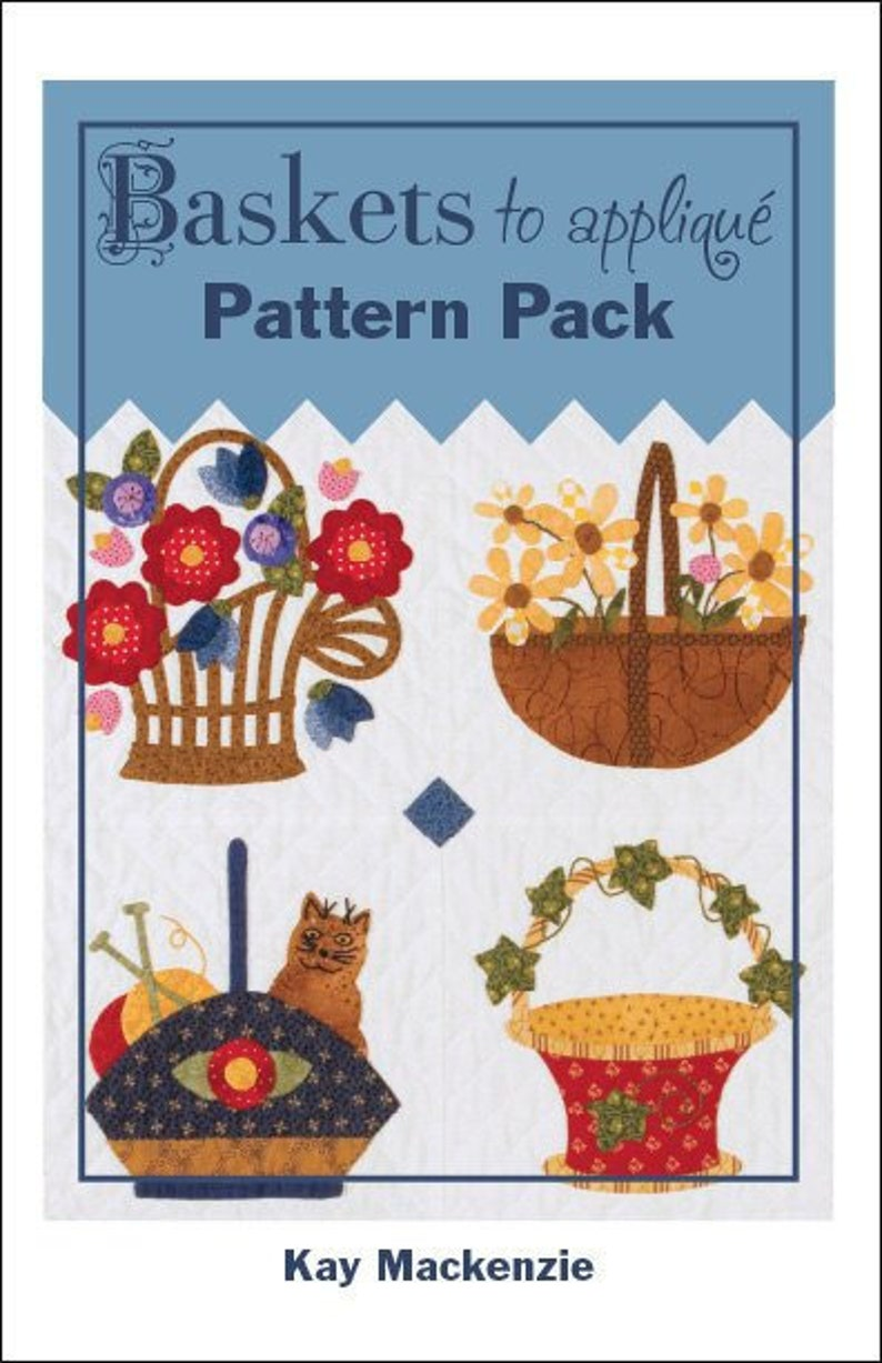 Baskets to Appliqué Pattern Pack image 0