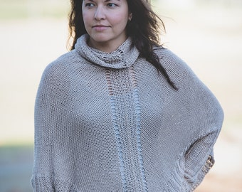 Arwen, Sleeved Poncho-- Pattern Only