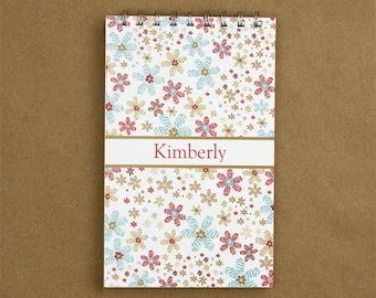 Personalized Journal Notebook - Confetti Flower Journal