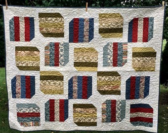 Price Reduced - Almost Americana Quilt - Sale