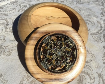 Spalted Maple Wood Jewlry Box/Memory Box with Lid