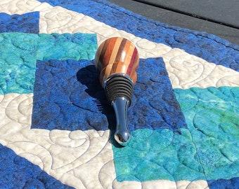 Mixed Wood Wine Bottle Stopper