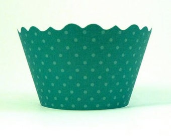 Cupcake Wrappers - Emerald Green   Includes 12