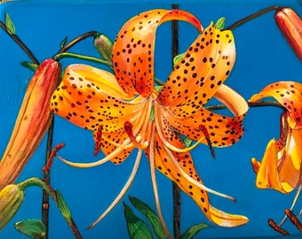 Tiger Lily Plaque