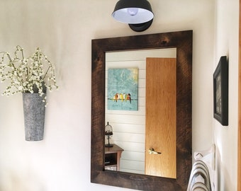 rustic wall mirrors rustic style vanity mirror modern rustic wooden wood framed bathroom mirror etsy