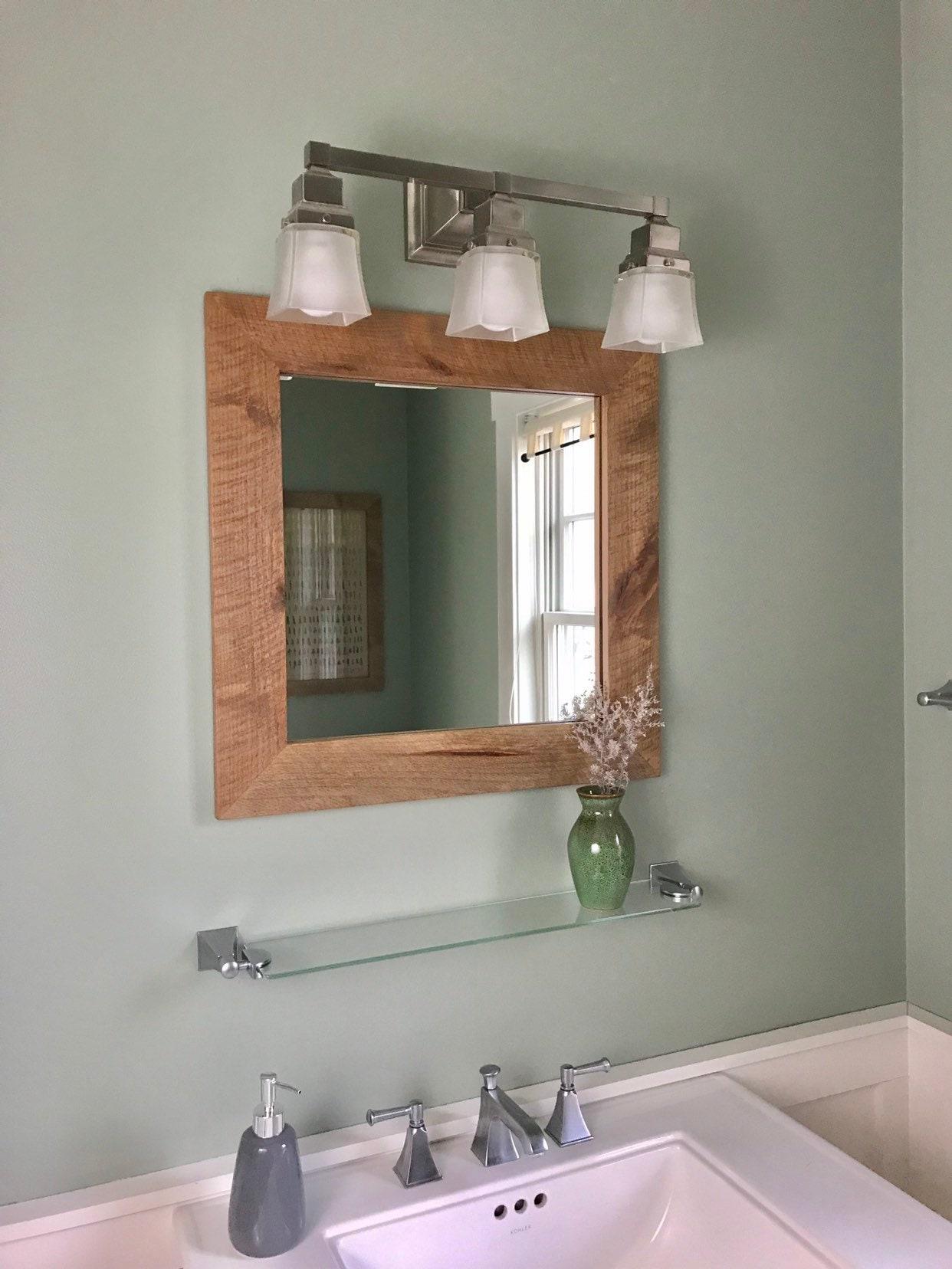 Modern Rustic Square Vanity Mirror Vanity Mirror