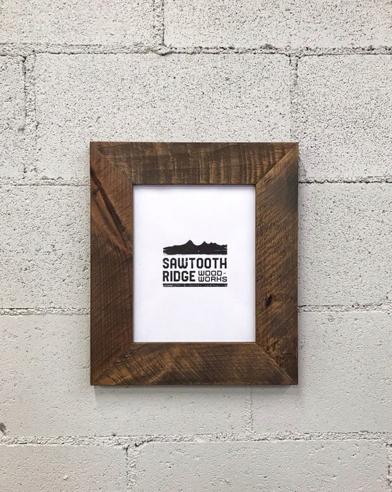 Modern Rustic Wood Picture Frame Picture Frame Wood
