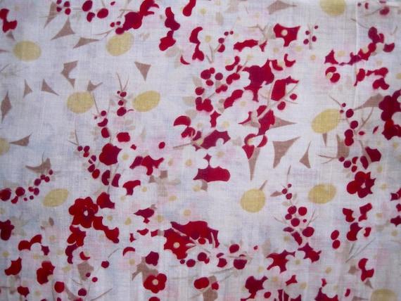 Tissu Vintage, Tissu Ancien, Coton fin, Jolies Jolies fin, Marguerites, Tissu Pour Couture, Tissu Des Années 30, Tissu Collection, Coupon Ancien Fané 2ebe4a