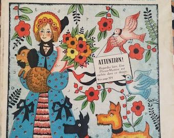 Illustrated weekly, La Semaine De suzette, French Magazine, French Ephemera, Girls Magazine, Vintage Weekly Magazine, Vintage Cover Art