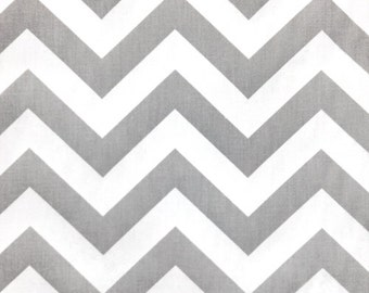 Zig Zag Chevron fabric   Storm Grey Gray   Premier Prints